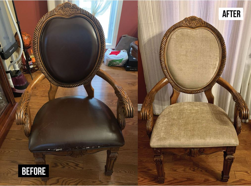 Living room chairs reupholstery